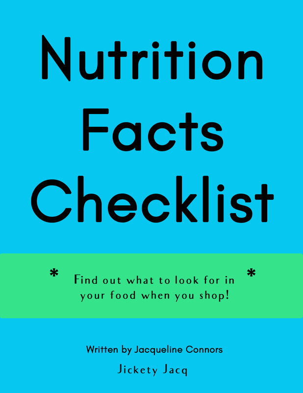 Nutrition Facts Checklist Jickety Jacq